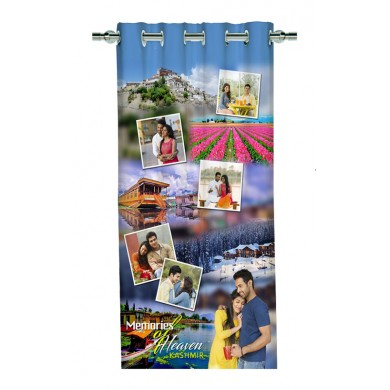 Personalized Kashmir Memories Photo Curtain