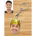 Personalized King Caricature Key Ring