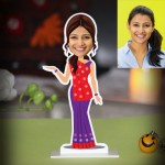 Personalized Lady from Gujarat Caricature Photo Stand In