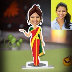 Personalized Lady from Maharashtra Caricature Photo Stand In