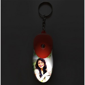 Personalized light glow key ring with photo
