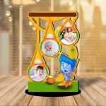 Personalized Little Krishna 02 MDF cutout photo collage stand