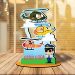 Personalized Little Pilot MDF cutout photo collage stand