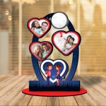 Personalized Love Moon MDF cutout photo collage stand