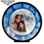 Personalized Magic Hidden Collage with Moon LED frame