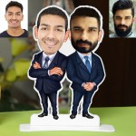 Personalized MaleFriends Couple Caricature Photo Stand In