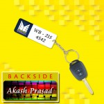 Personalized Maruti Suzuki Car key ring with name and number and logo