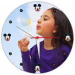 Personalized Micky mouse round wall clock with photo