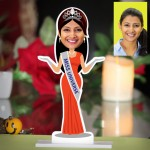 Personalized Miss Universe Caricature Photo Stand In