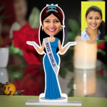 Personalized Miss World Caricature Photo Stand In