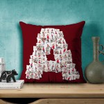 Personalized Mosaic Cushion Alphabet-A (16X16) Satin Fabric
