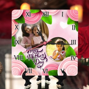 Personalized Mother's Day Table Top Clock design 02