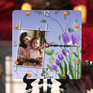 Personalized Mother's Day Table Top Clock design 03