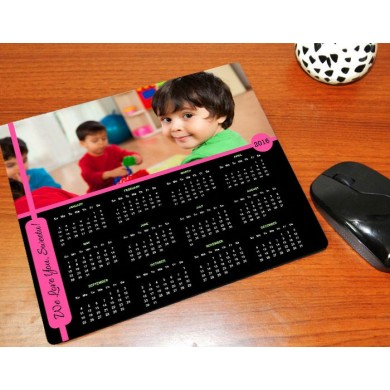 Personalized mouse pad calendar with photo