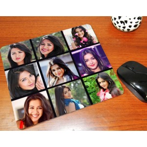 Personalized mouse pad with photo collage - 9 pic