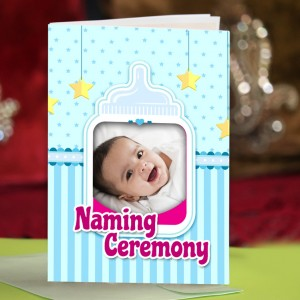 Personalized New Baby Greeting Card 002