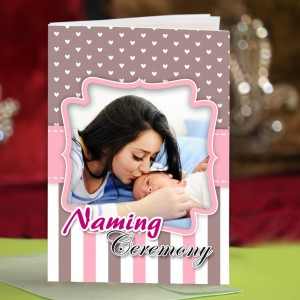 Personalized New Baby Greeting Card 003