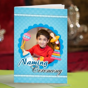 Personalized New Baby Greeting Card 004