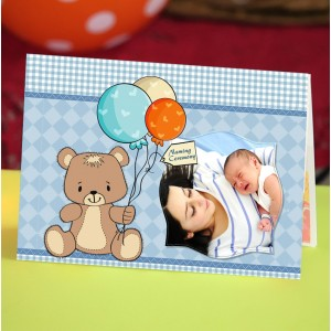 Personalized New Baby Greeting Card 005