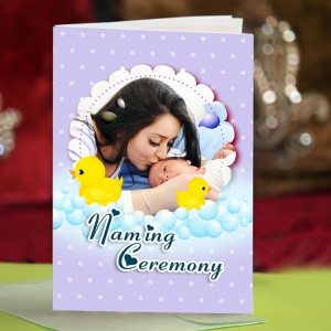 Personalized New Baby Greeting Card 006
