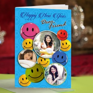 Personalized New Year Greeting Card for friend 004