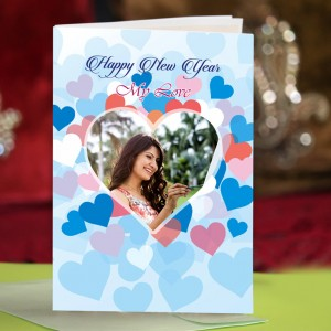 Personalized New Year Greeting Card for girl friend 007