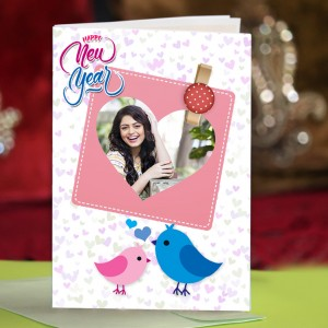 Personalized New Year Greeting Card for girl friend 019
