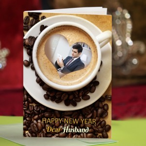 Personalized New Year Greeting Card for husband 002