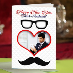 Personalized New Year Greeting Card for husband 003
