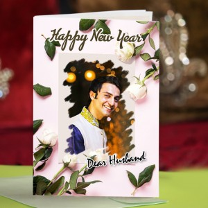 Personalized New Year Greeting Card for husband 005
