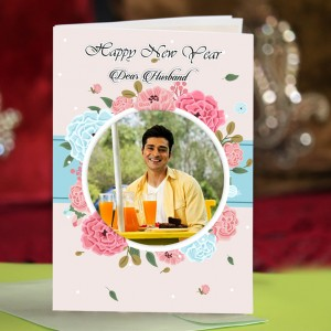 Personalized New Year Greeting Card for husband 006