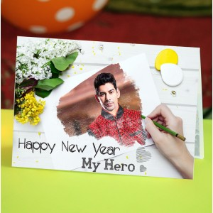 Personalized New Year Greeting Card for husband or boyfriend 018