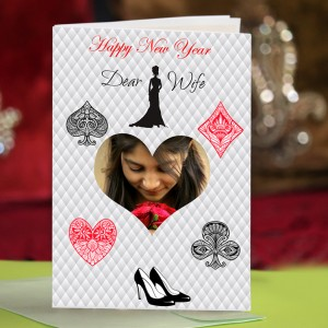 Personalized New Year Greeting Card for wife 001