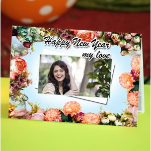 Personalized New Year Greeting Card for wife 017
