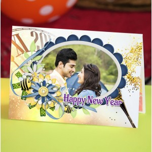 Personalized New Year Greeting Card universal 009