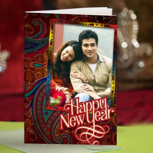 Personalized New Year Greeting Card universal 021