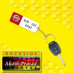 Personalized Nissan Car key ring with name and number and logo