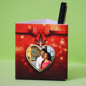 Personalized Pen Stand with Teddy Heart theme 2 photos backview