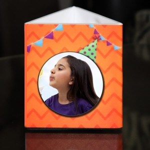 Personalized Pen Stand with Birthday theme with 2 pictures