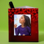 Personalized Pen Stand with Teddy Heart theme 2 photos