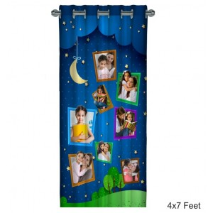 Personalized Photo Curtain D