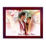 Personalized photo in a 8 X 6 inch Ceramic Tile with wooden frame