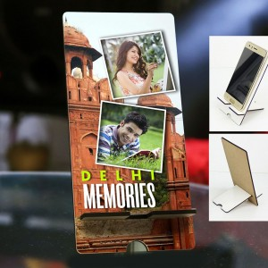 Personalized Photo Mobile Stand with Delhi Design