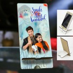 Personalized Photo Mobile Stand with Love Design 2