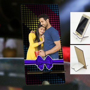Personalized Photo Mobile Stand with Love Design
