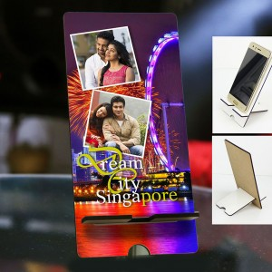 Personalized Photo Mobile Stand with Singapore Design