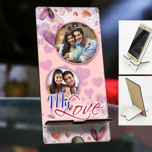 Personalized Photo Mobile Stand with Valentines Design 2