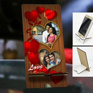 Personalized Photo Mobile Stand with Valentines Design 3