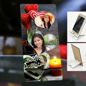 Personalized Photo Mobile Stand with Valentines Design