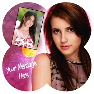 Personalized Photo on 4 combined circle - 6 inch x 6 inch